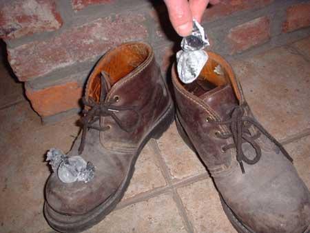 acide borique chaussure