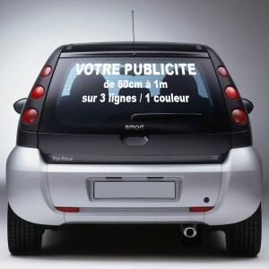 autocollant voiture pub