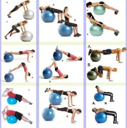 ballon yoga exercices