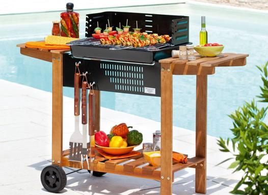 barbecue en bois