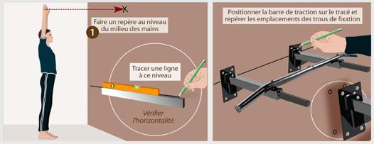 barre de traction à fixer au mur