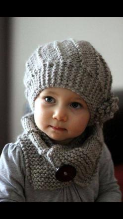 bonnet tricot bébé fille