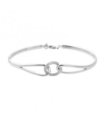 bracelet argent rigide