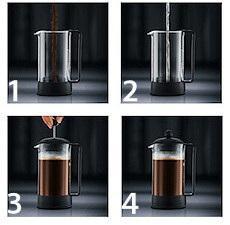 cafetiere piston utilisation