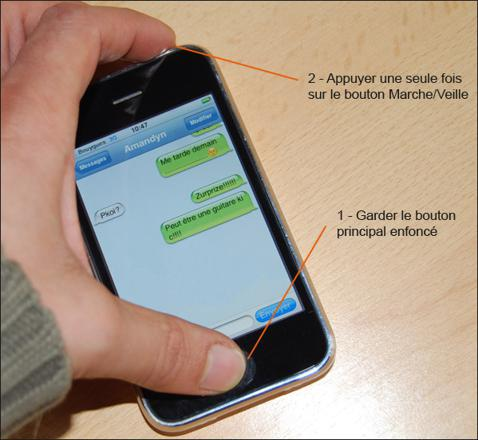 capture d écran iphone 3