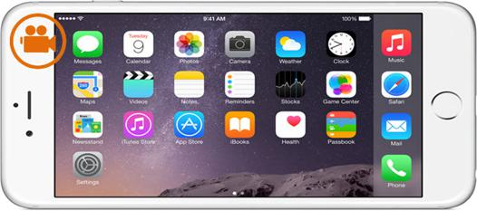 capture d écran iphone 6