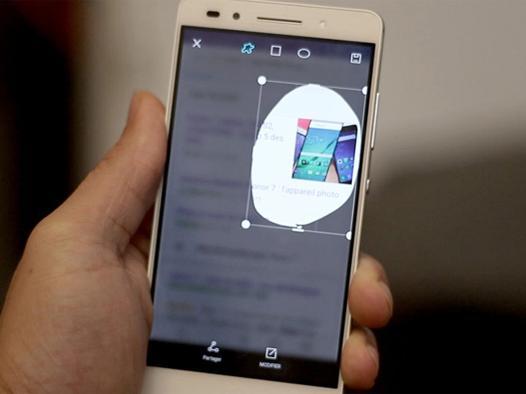 capture d écran sur huawei