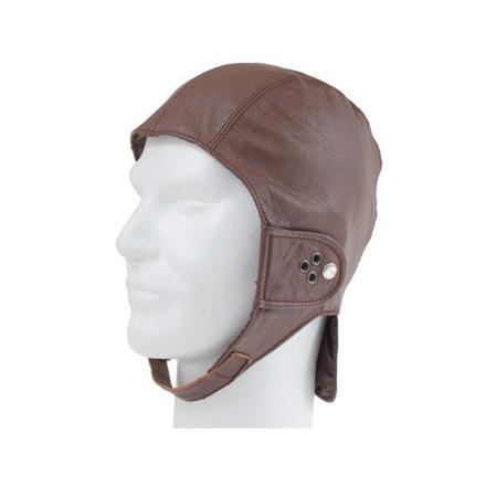 casque cuir vintage