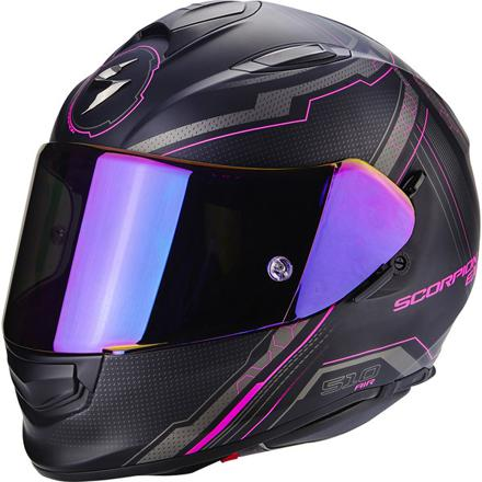 casque moto fille rose