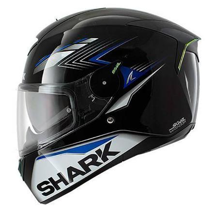 casque shark bleu