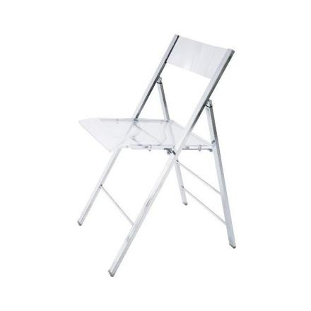 chaise pliante transparente
