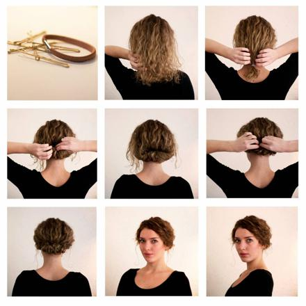 coiffure facile cheveux court femme