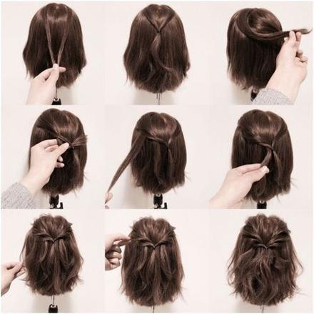 coiffure facile et rapide cheveux court
