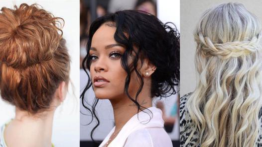 coiffure sur cheveux long bouclés