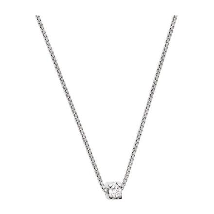 collier argent diamant