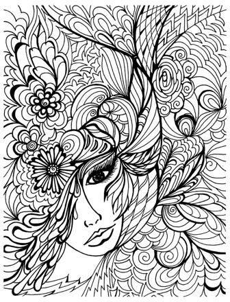 coloriage anti stress visage