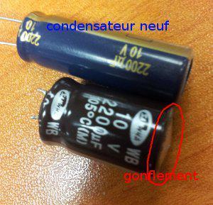 condensateur tv lg