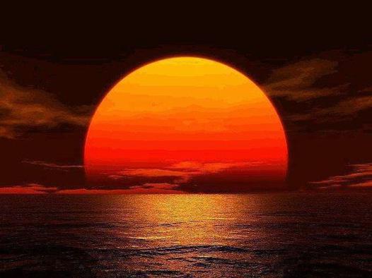 couche de soleil dessin
