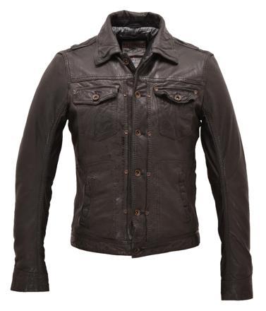 cuir veste homme redskins