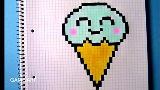 dessin pixel glace