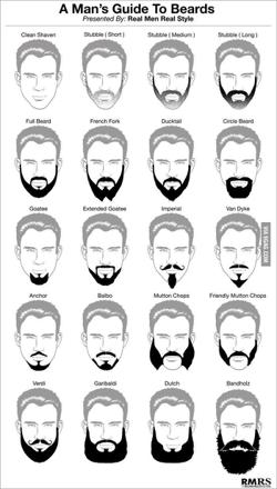 different type de barbe