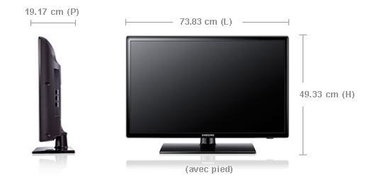 dimension tv 32 pouces