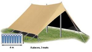 double toit tente