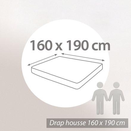 drap housse 160 x 190