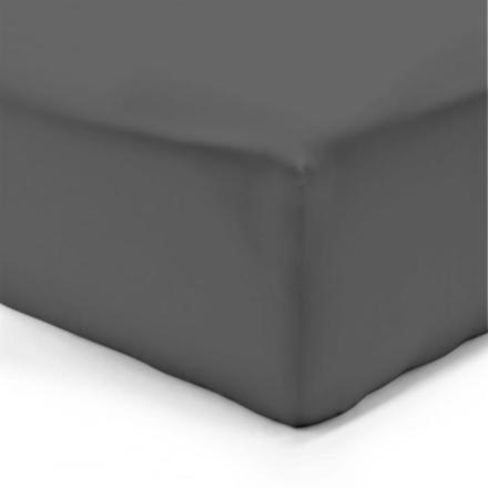 drap housse gris anthracite