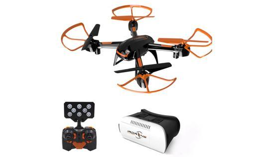 drone avec casque vr