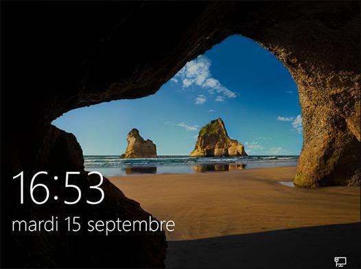 ecran de veille windows 10