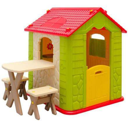 enfant maison jardin