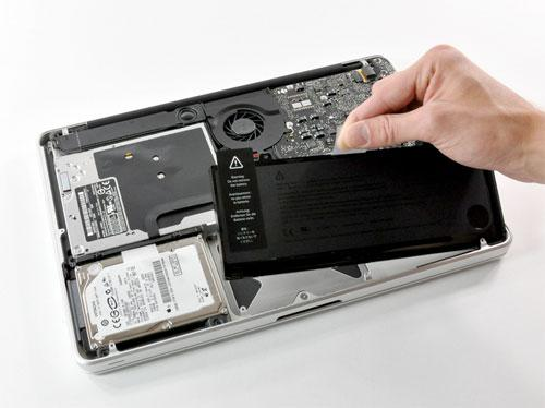 enlever batterie macbook pro