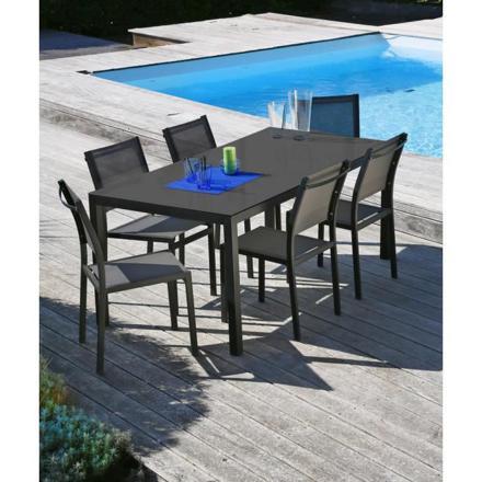 ensemble table de jardin et chaises