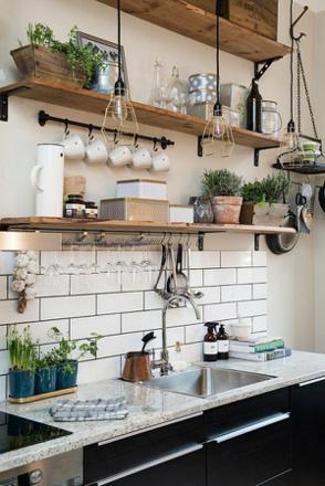 etagere murale de cuisine