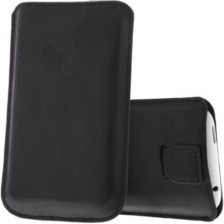 etui cuir pour smartphone noir