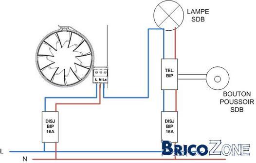 extracteur d'air salle de bain avec timer