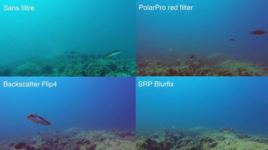 filtre plongée gopro