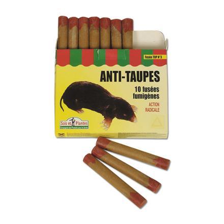 fusées anti taupes fumigène