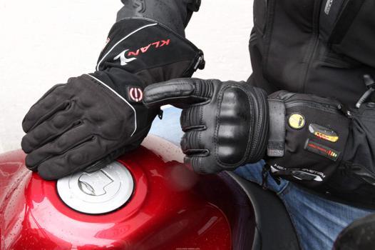 gant moto chauffant
