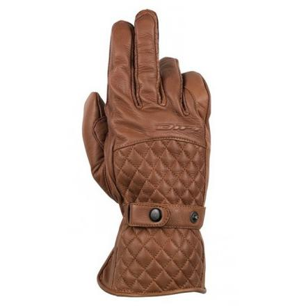 gants moto cuir marron