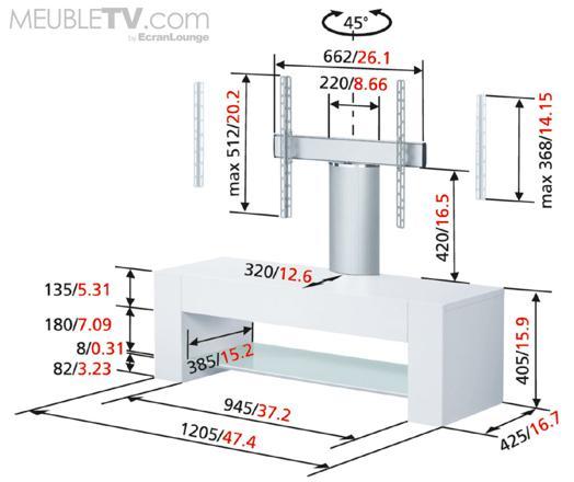 hauteur ideale pour tv murale