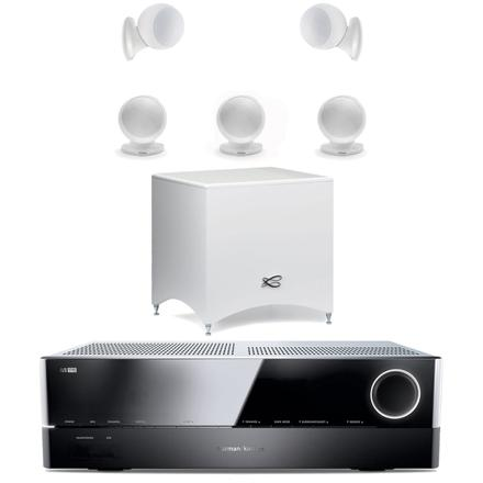 home cinema 5.1 blanc