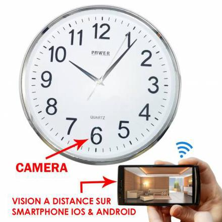 horloge camera espion wifi