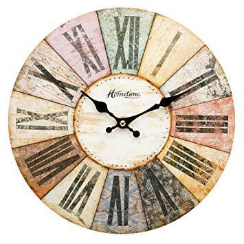 horloge murale multicolore