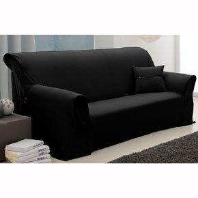 housse de canapé 3 places noir