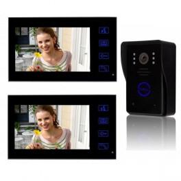 interphone video sans fil 2 ecrans