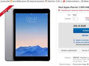 ipad air bon plan