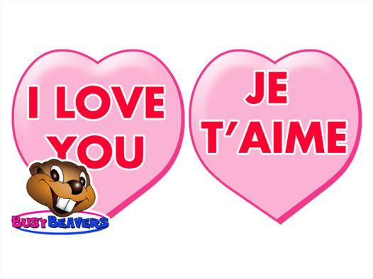 je t aime en anglais