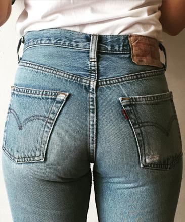 jeans taille haute levis